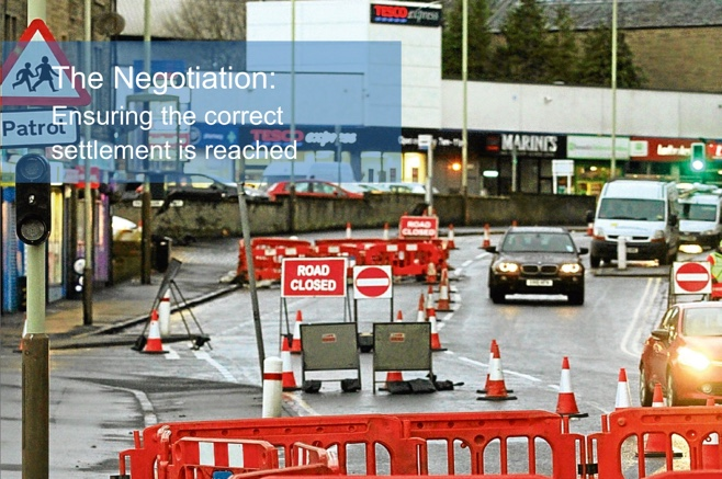 Water Roadworks outside a National Retailer in Wigan